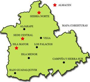 Mapa Almacenes Agroitalica